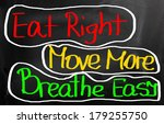 eat right move more breathe... | Shutterstock . vector #179255750