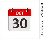 october 30 calendar icon....