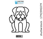 dog line icon  outline vector... | Shutterstock .eps vector #1792590379