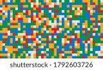 realistic plastic construction... | Shutterstock .eps vector #1792603726