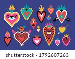cute set of mexican sacred... | Shutterstock .eps vector #1792607263