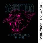 ambition slogan print design...   Shutterstock .eps vector #1792635403