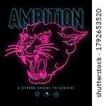 ambition slogan print design...   Shutterstock . vector #1792653520