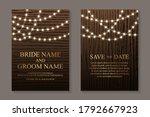 modern luxury wedding... | Shutterstock .eps vector #1792667923