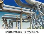 industrial pipelines on pipe... | Shutterstock . vector #17926876