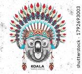 hipster animal koala with...   Shutterstock .eps vector #1792693003