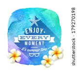summer time greeting and... | Shutterstock .eps vector #179270198