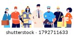 essential workers and... | Shutterstock .eps vector #1792711633