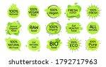vegan eco food  bio organic ... | Shutterstock .eps vector #1792717963