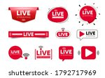 live streaming icons. red...