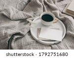breakfast in bed stationery...   Shutterstock . vector #1792751680