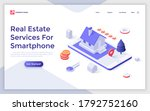 landing page template with... | Shutterstock .eps vector #1792752160