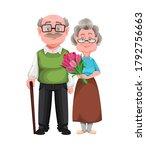 happy grandparents day. cute... | Shutterstock .eps vector #1792756663