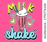 Illustration Of A Milkshake...