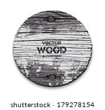 vector old wooden round sign...