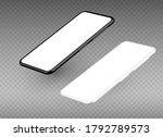 black realistic smart phone... | Shutterstock .eps vector #1792789573