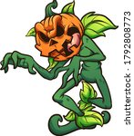 halloween pumpkin monster... | Shutterstock .eps vector #1792808773