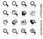 Loupe Icons & Simbols. Abstract vector illustration.