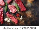 Variety  Of Raw Beef Steaks...