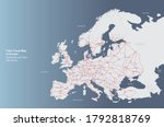 european rail map. travel train ... | Shutterstock .eps vector #1792818769