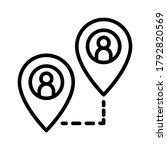 pin marker map pointer gps... | Shutterstock .eps vector #1792820569