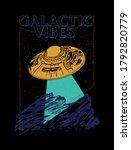 galactic vibes slogan print...   Shutterstock .eps vector #1792820779