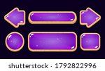 set of game ui purple jelly...
