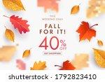 autumn sale background  banner  ... | Shutterstock .eps vector #1792823410