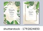 wedding invitation card...   Shutterstock .eps vector #1792824850