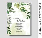 wedding invitation card...   Shutterstock .eps vector #1792824853