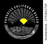 paradise california beach...   Shutterstock .eps vector #1792831729