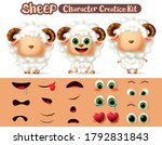 sheep characters creation... | Shutterstock .eps vector #1792831843