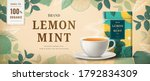 lemon mint tea banner ads with... | Shutterstock .eps vector #1792834309