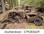 Car Dump In Kirkoe Mosse  Sweden