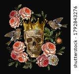 embroidery golden crown  human... | Shutterstock .eps vector #1792843276