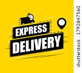 express delivery icon for apps...   Shutterstock .eps vector #1792847560