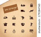 logistic transportation service ... | Shutterstock .eps vector #179284760