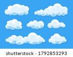 simple cartoon clouds vector... | Shutterstock .eps vector #1792853293