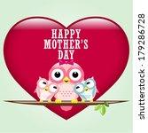 happy mothers day. vector... | Shutterstock .eps vector #179286728