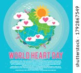 earth and hearts vector banner...   Shutterstock .eps vector #1792867549