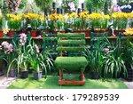 chair in a beautiful garden on... | Shutterstock . vector #179289539