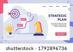 strategic plan horse chess... | Shutterstock .eps vector #1792896736