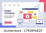 video tutorial man on video... | Shutterstock .eps vector #1792896829
