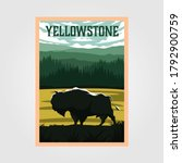 bison on yellowstone national... | Shutterstock .eps vector #1792900759
