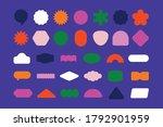 vector set of design elements ... | Shutterstock .eps vector #1792901959