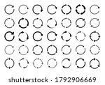 set of circle arrows. vector... | Shutterstock .eps vector #1792906669