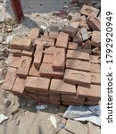 A Heap Of Red Bricks Stacked At ...