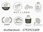 nuts collection logo with... | Shutterstock .eps vector #1792921609