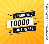 thank you poster for 10k social ...   Shutterstock .eps vector #1792924459
