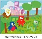 vector collection of animals 33 | Shutterstock .eps vector #17929294